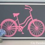 Beach Bike Silhouette Wall Art Tutorial