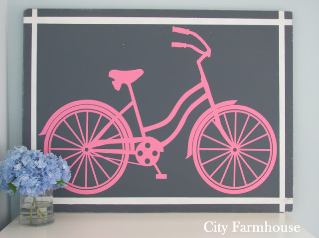 Beach Bike Silhouette Wall Art Tutorial