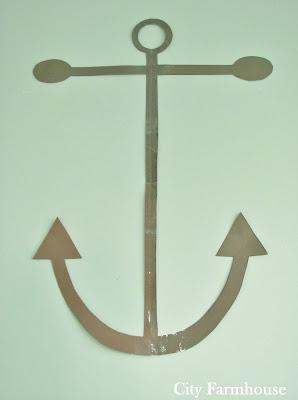 Simple DIY Anchor Silhouette Canvas
