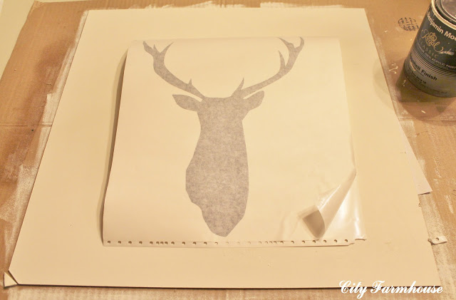 DIY Deer Silhouette Art Tutorial-Recycled Christmas Project #2