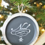 Mason Jar Chalkboard Lid Ornaments-Recycled Christmas Project #7