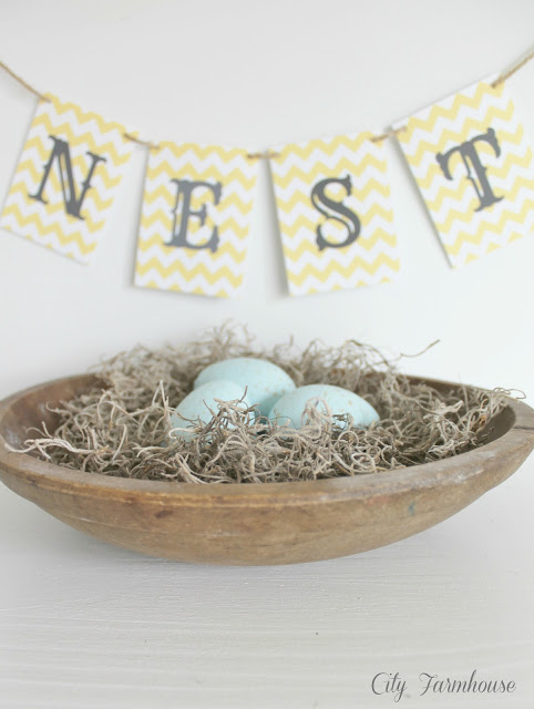 DIY Paper Mache Speckled Robin's Eggs