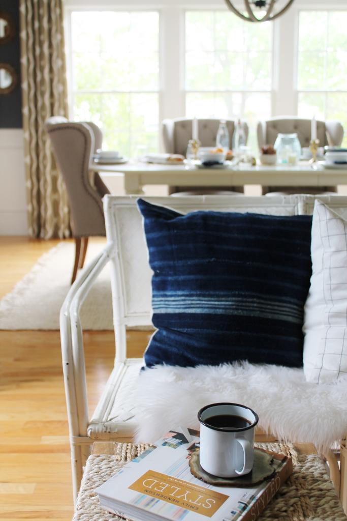 Summer Tour-Dining Room-Dyed Indigo Pillows