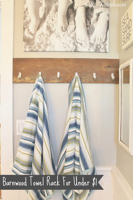 How To Make A Barnwood Towel Rack for Under $1