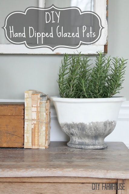 DIY Hand Dipped Glazed Pot