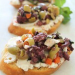 Herbed Olive Tapenade With Goat Cheese Bruschetta & Giveaway!