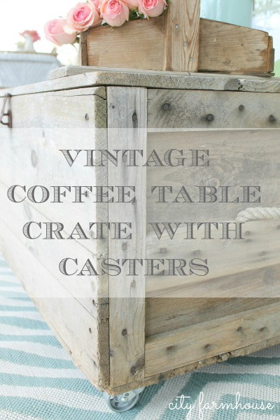 How To Turn A Vintage Crate Into A Coffee Table With Casters And New Rug