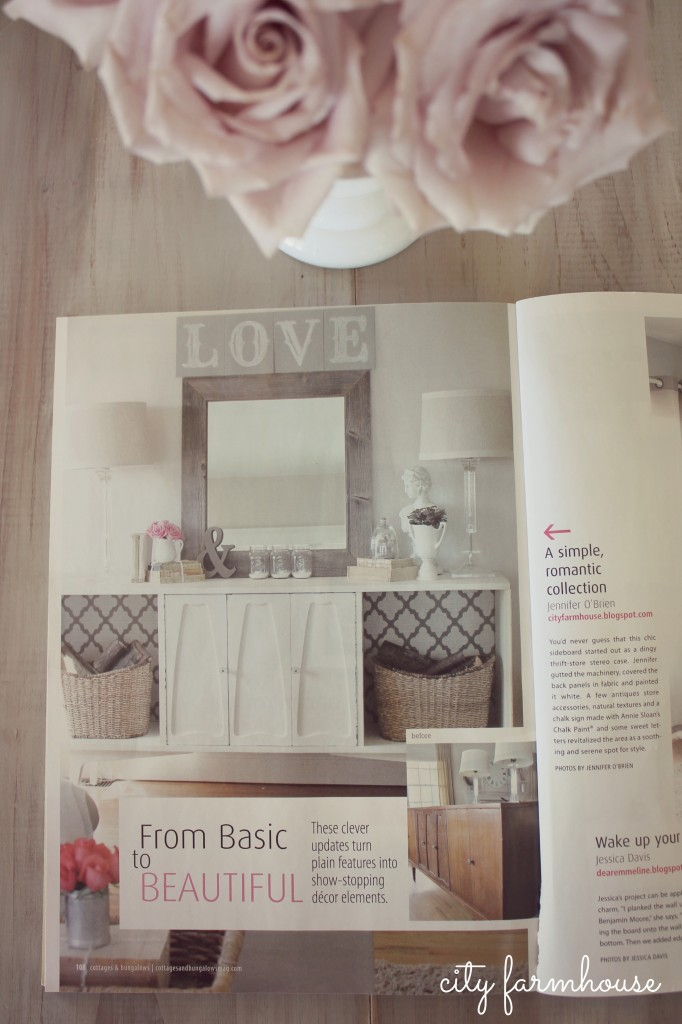 City Farmhouse 10 dollar makeover featured in cottages & bungalows