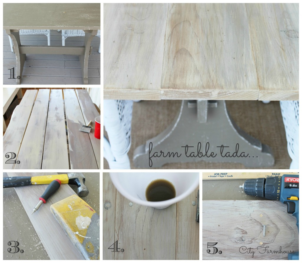 City Farmhouse Easiest Farm Table