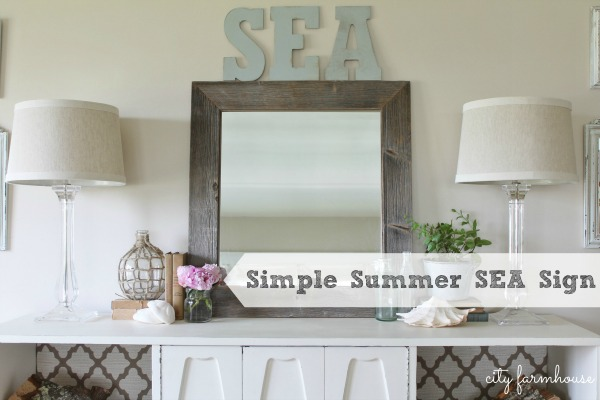 Simple Summer SEA Sign