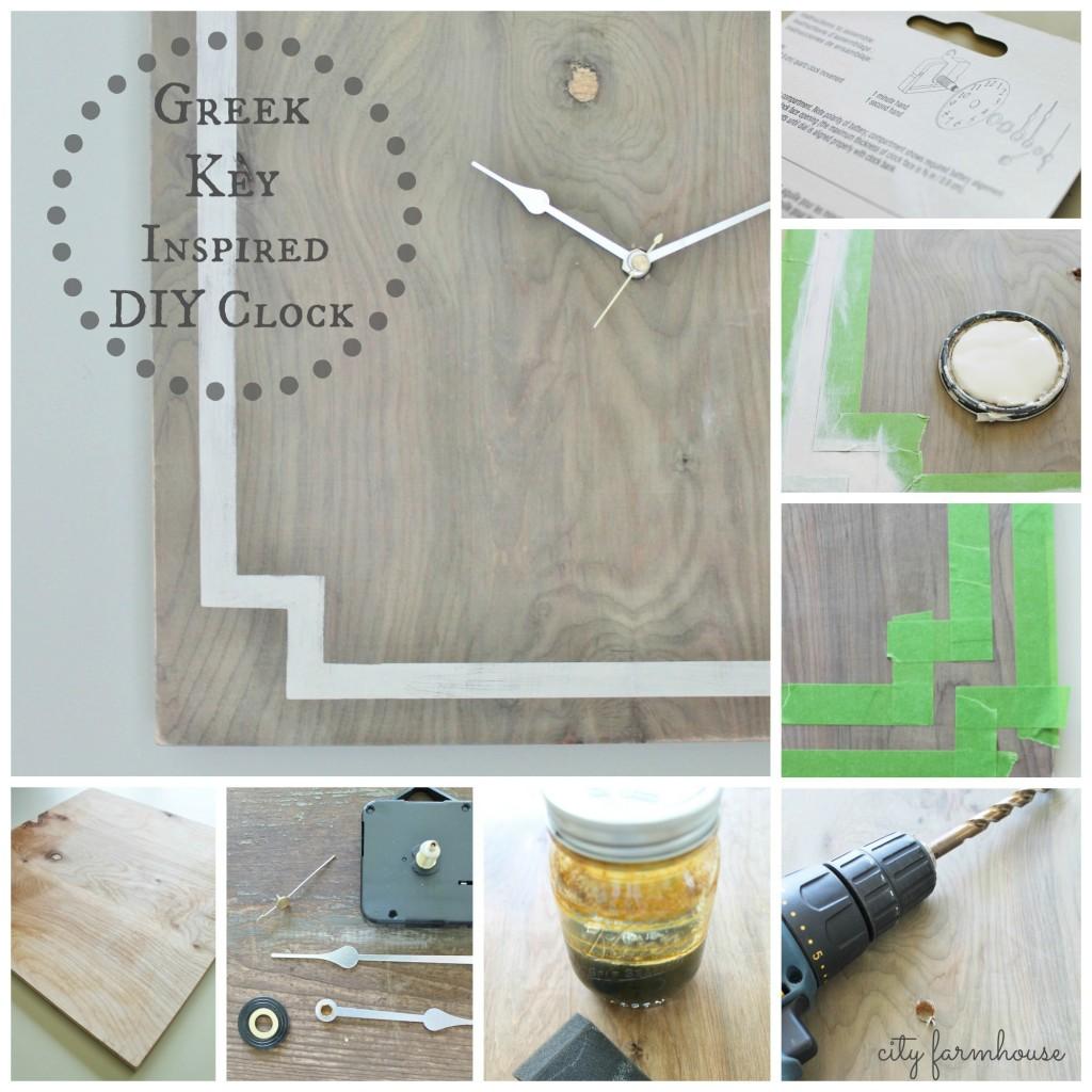 Greek Key Inspired DIY CLock