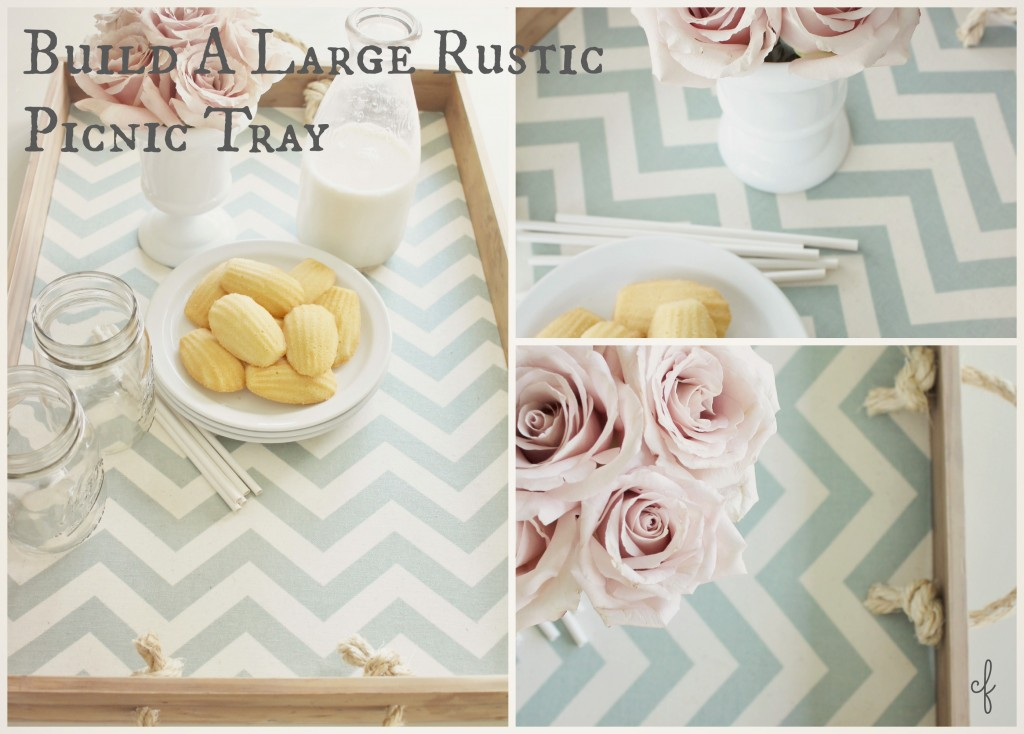 Build A Large Rustic Picnic Tray Inspired Decorating Ideas For Summer