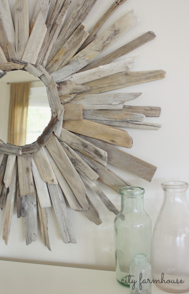 Thrifty Amp Pretty Diy Driftwood Mirror City Farmhouse