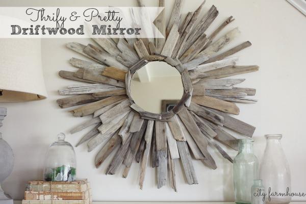 Thrifty & Pretty DIY Driftwood Mirror