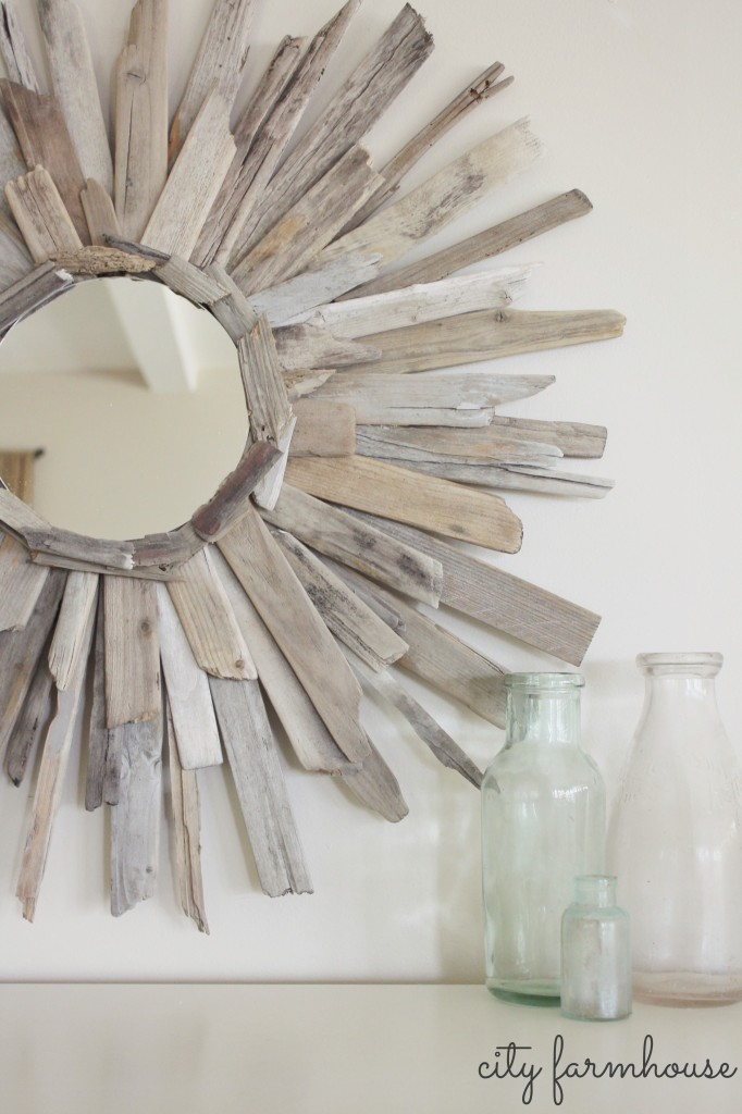 City Farmhouse-DIY Thrifty & Pretty Driftwood Mirror