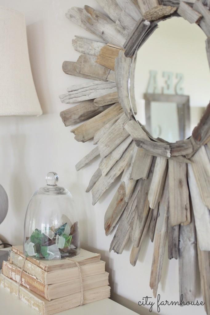 Thrifty Amp Pretty Diy Driftwood Mirror City Farmhouse