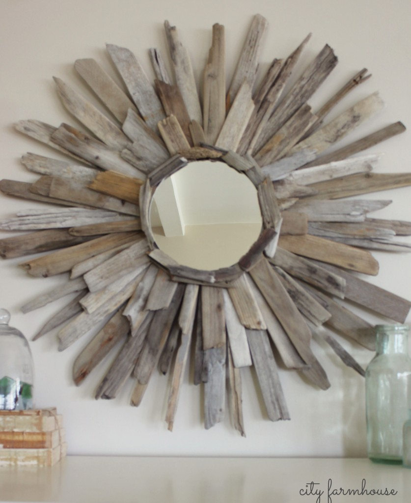 City Farmhouse Driftwood Mirror-3 Bucks