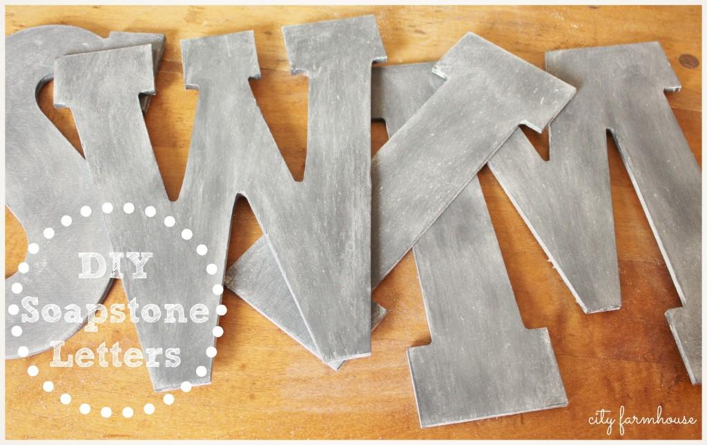 DIY Soapsone Letters