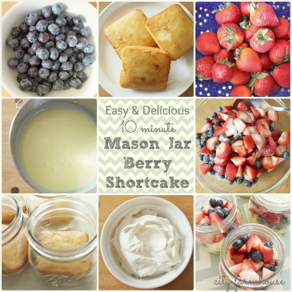 Mason Jar Berry Shortcake in 10 Minutes Flat