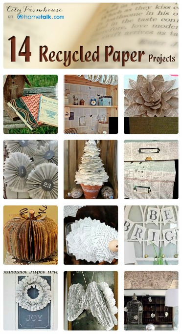 Recycled Paper Projects Collection On Hometalk