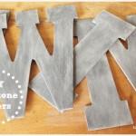DIY Soapstone Letters