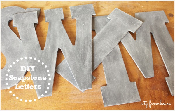 DIY Soapstone Letters