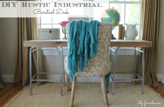 DIY Rustic Chic Industrial Bartsool Desk