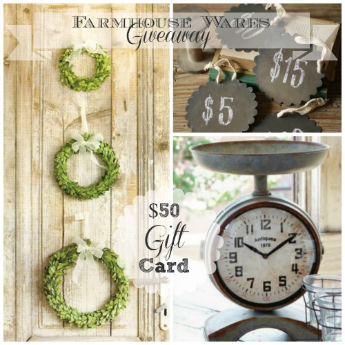 Farmhouse Wares Giveaway Feature