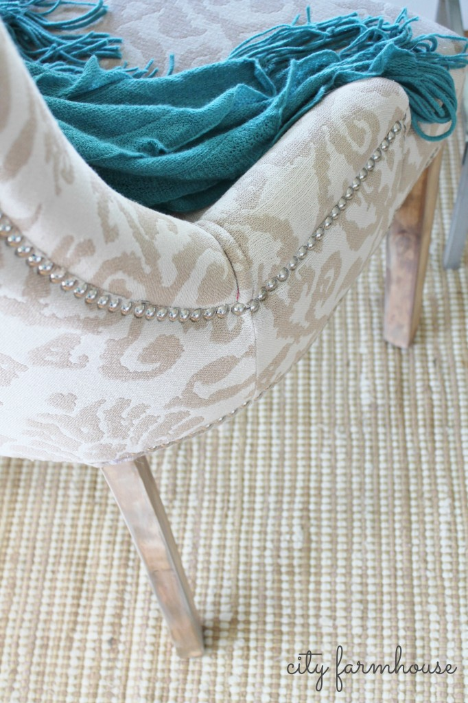 Rustic Glam chair makeover-City Farmhouse