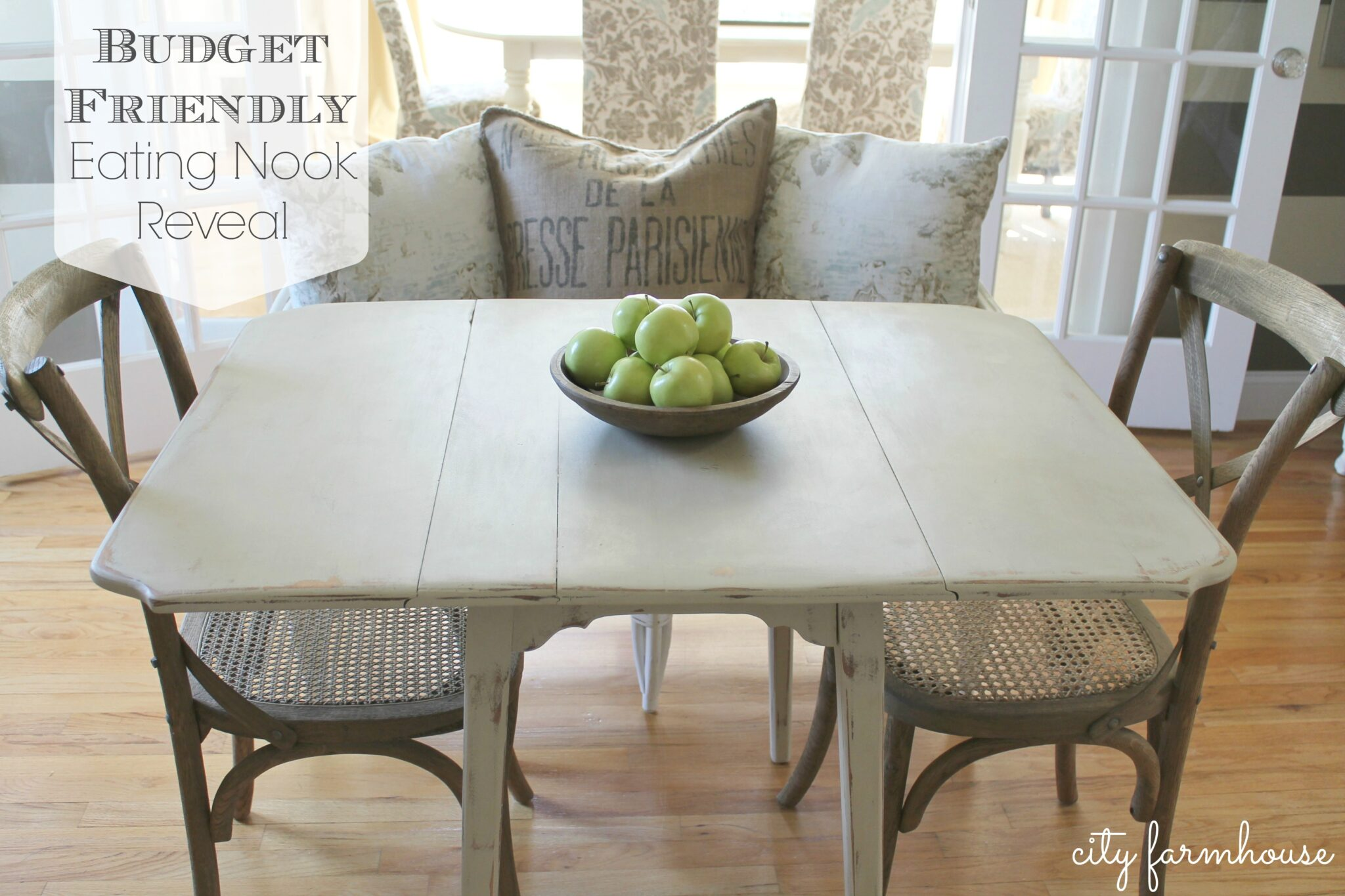 Create Style Without Breaking The Bank New Eating Nook Reveal. I Splurged  On These Madeline Chairs From Restoration Hardware