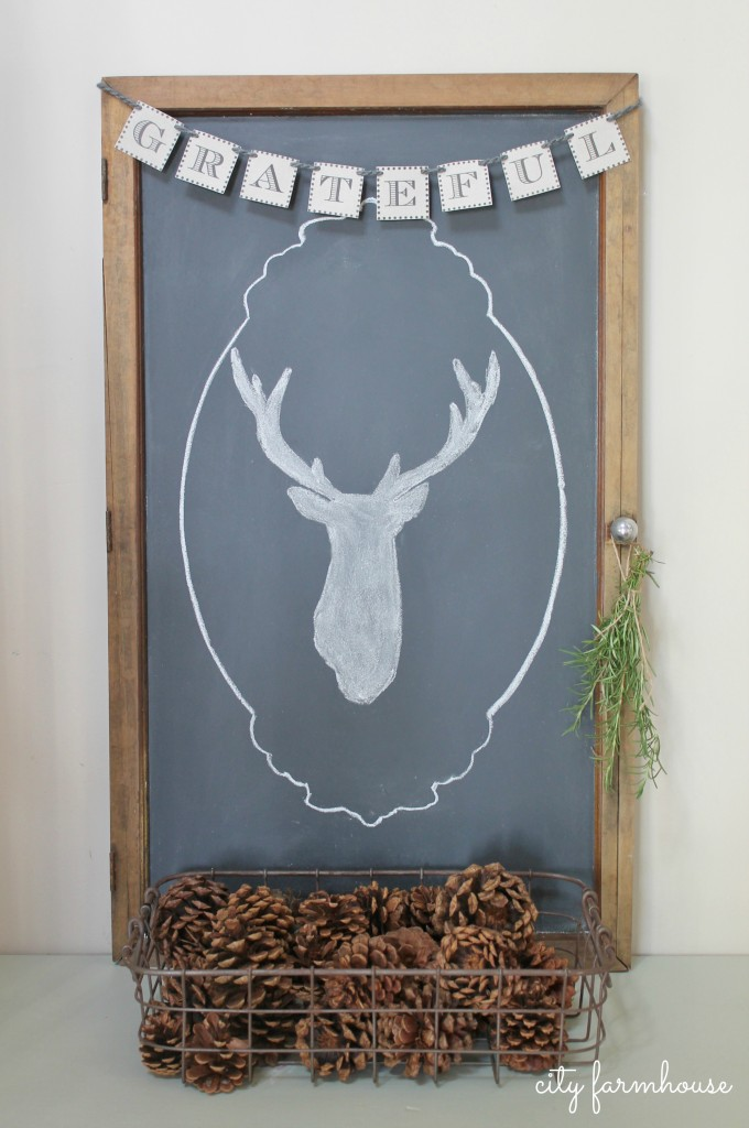 Easiest Way To Make A Chalkboard & Banner