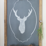 How To Make The Easiest Chalkboard & Stag Silhouette