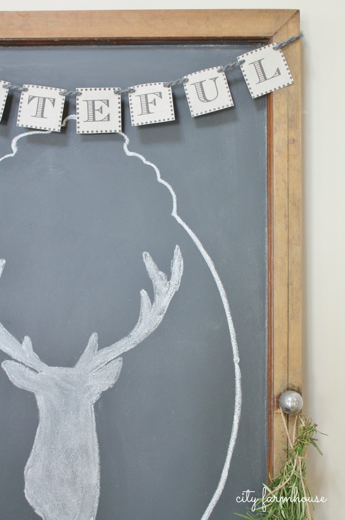 Dekorationly.com Hoe de eenvoudigste schoolbord & hert silhouet te maken silhouet schoolbord maken eenvoudigste