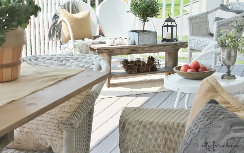 Fall Porch City Farmhouse Accessorizing Seating