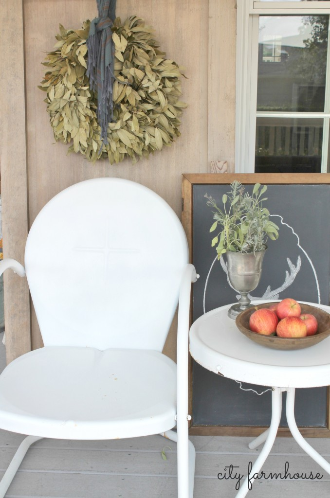 Fall Porch City Farmhouse Re-Use Items YOu Have