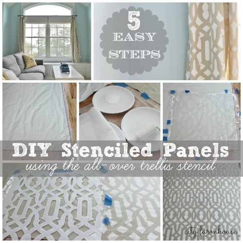 DIY Stenciled Panels In 5 Easy Steps