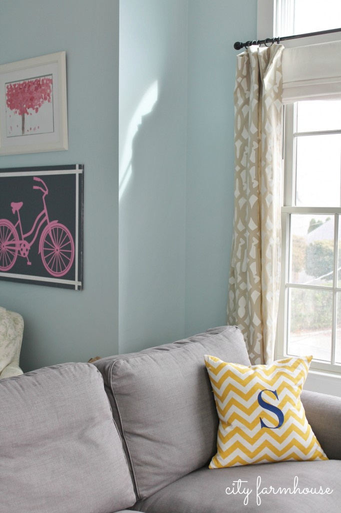 City Farmhouse-5 Easy Steps to Stenciling Drapes & Palyroom Sneak Peak