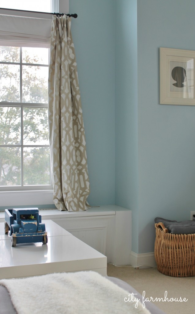City Farmhouse-5 Easy Steps to Stenciling Drapes & Simple Silhouettes