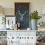 Thrifty & Simple Fall Vignette