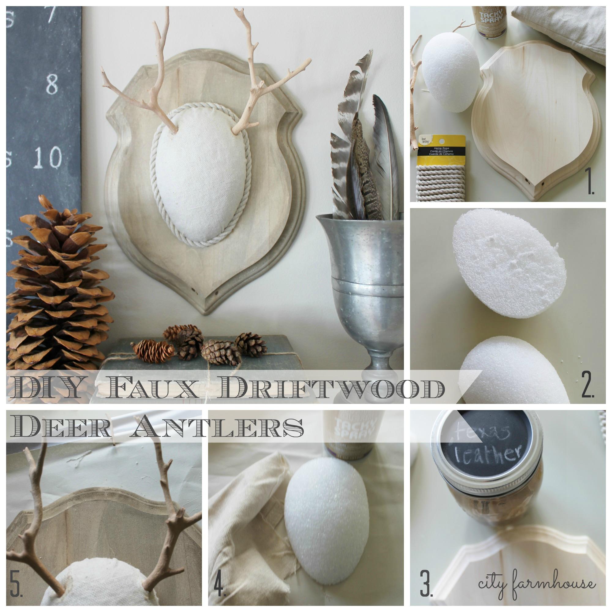 DIY Faux Driftwood Deer Antlers - City