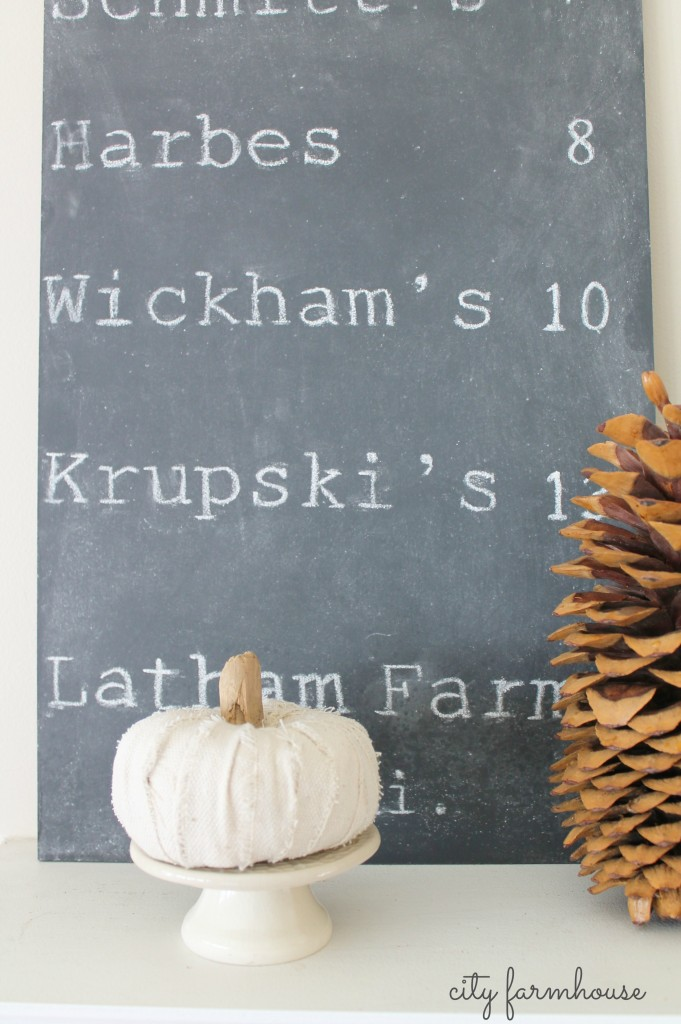DIY Faux Driftwood Deer Antlers & Pumpkin Patch Chalkboard Sign-City Farmhouse