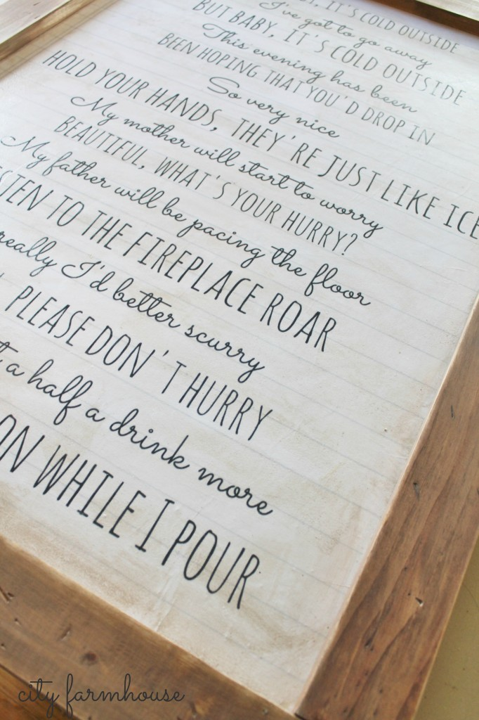 Baby It's Cold Outside Easy DIY Wall Art-City Farmhouse
