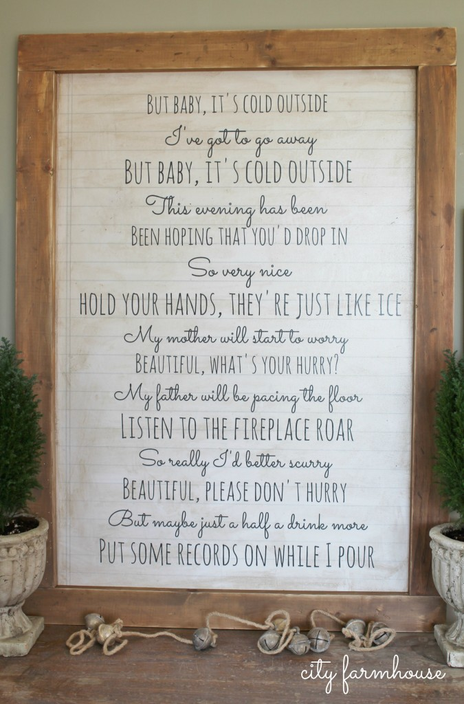 Baby It's Cold Outside Easy DIY Wall Art-City Farmhouse-EASY Art perfect for the holidays