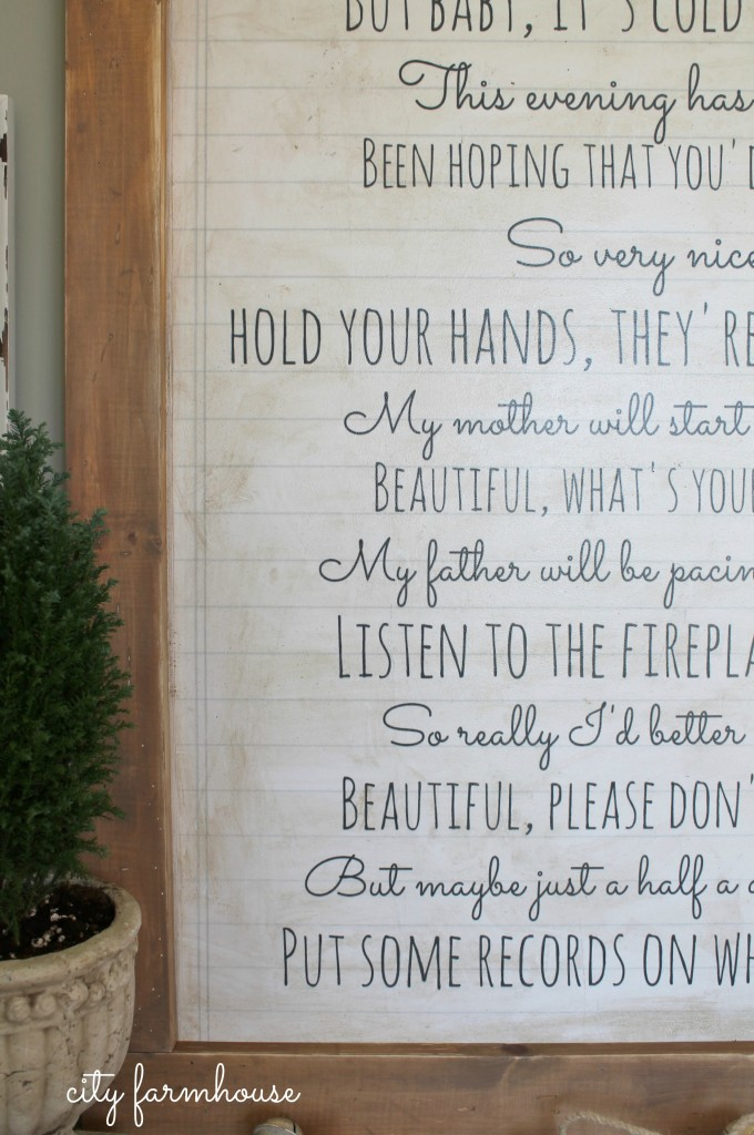 Baby It's Cold Outside Easy DIY Wall Art-City Farmhouse-Simple poster on MDF