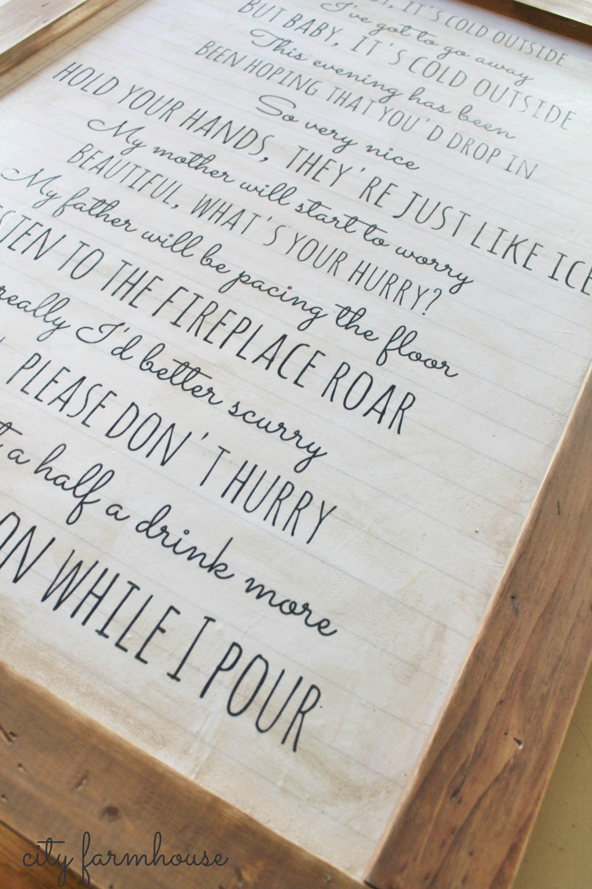 Baby It\'s Cold Outside Easy DIY Wall Art-City Farmhouse - City Farmhouse