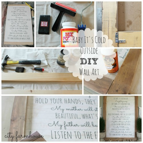 Diy Holiday Art Baby It S Cold Outside City Farmhouse