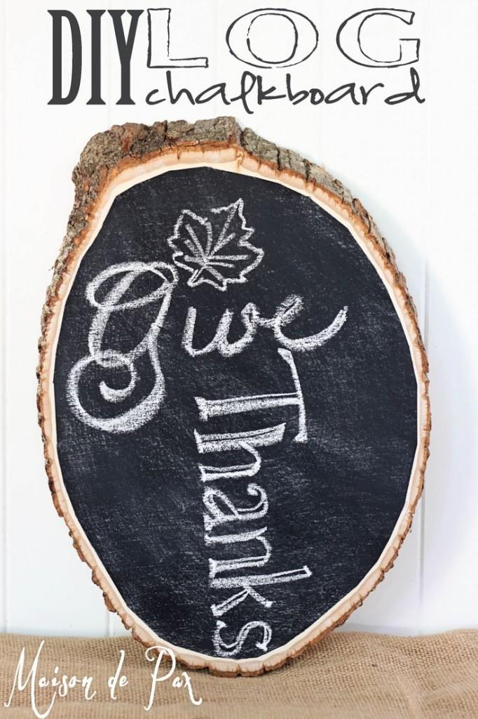 Chalkboard Log