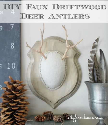 DIY Faux Driftwood Deer Antlers-Easy Holiday Project-City Farmhouse Feature
