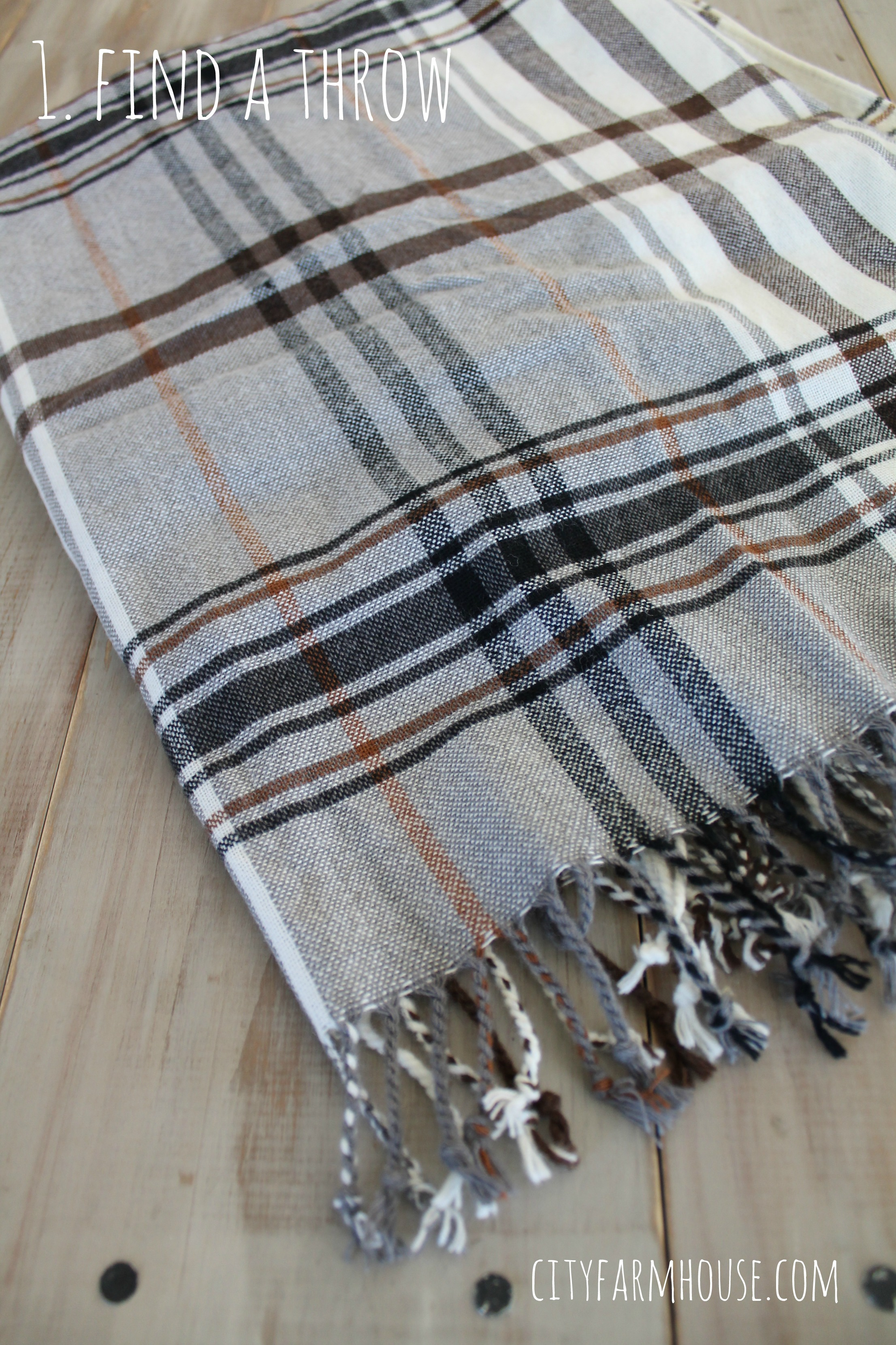 Beautiful Ikea Hack-DIY Plaid Pillows{from a throw} - City Farmhouse EE68