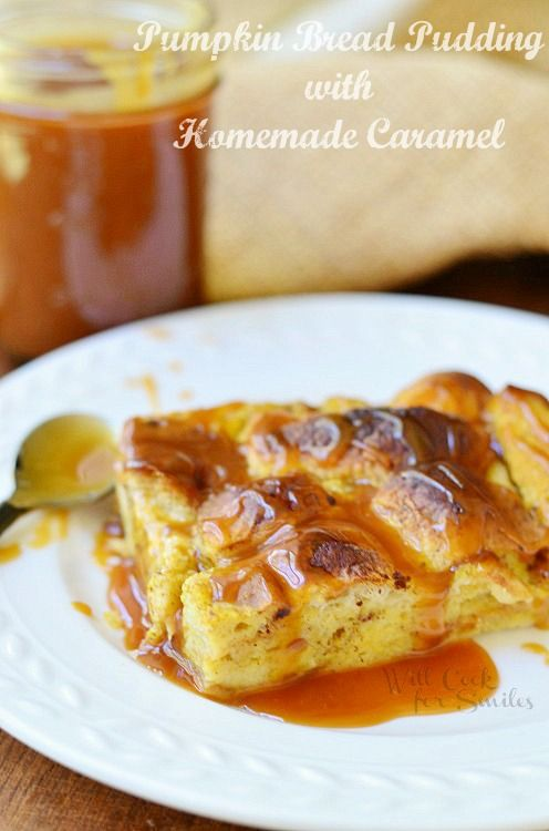 Pumpkin Bread Pudding-Will Cook For Smiles